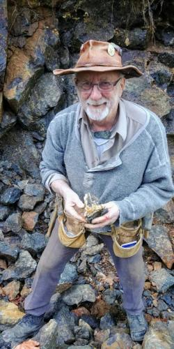With a treasure at the pillow lava formation.(Blue Grouse Mine)