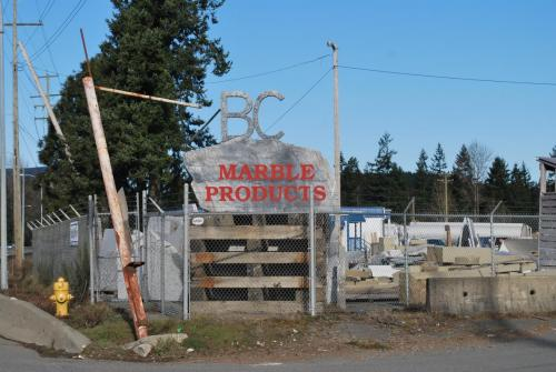 BC Marble Products in Chemainus, BC.  Field trip on March 14, 2020.