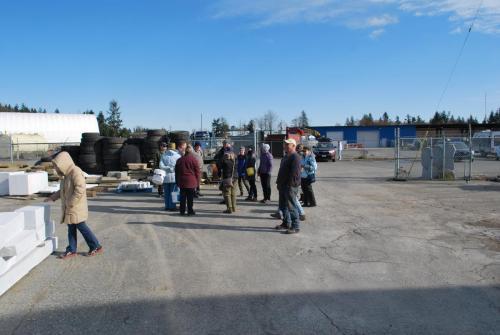 Members gathering onsite