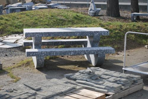 Marble picnic table